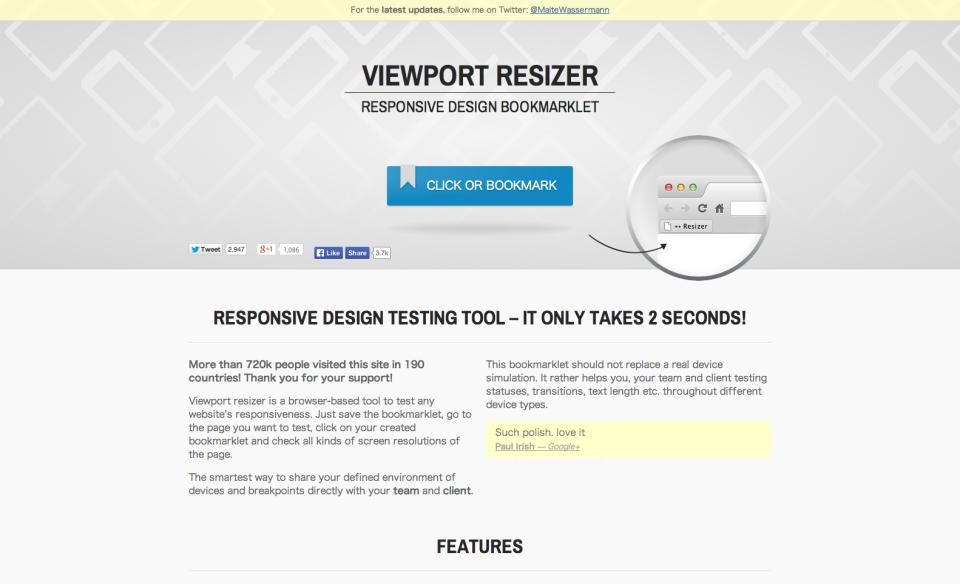 Responsive design testing tool – Viewport Resizer – Emulate various screen resolutions - Best developer device testing toolbar