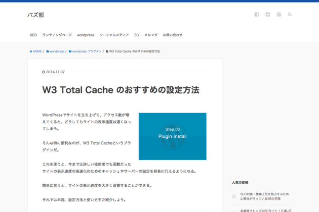 W3-Total-Cache-のおすすめの設定方法